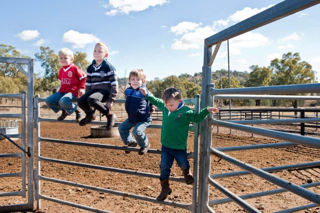Kids at Farm Day 2012 Australia