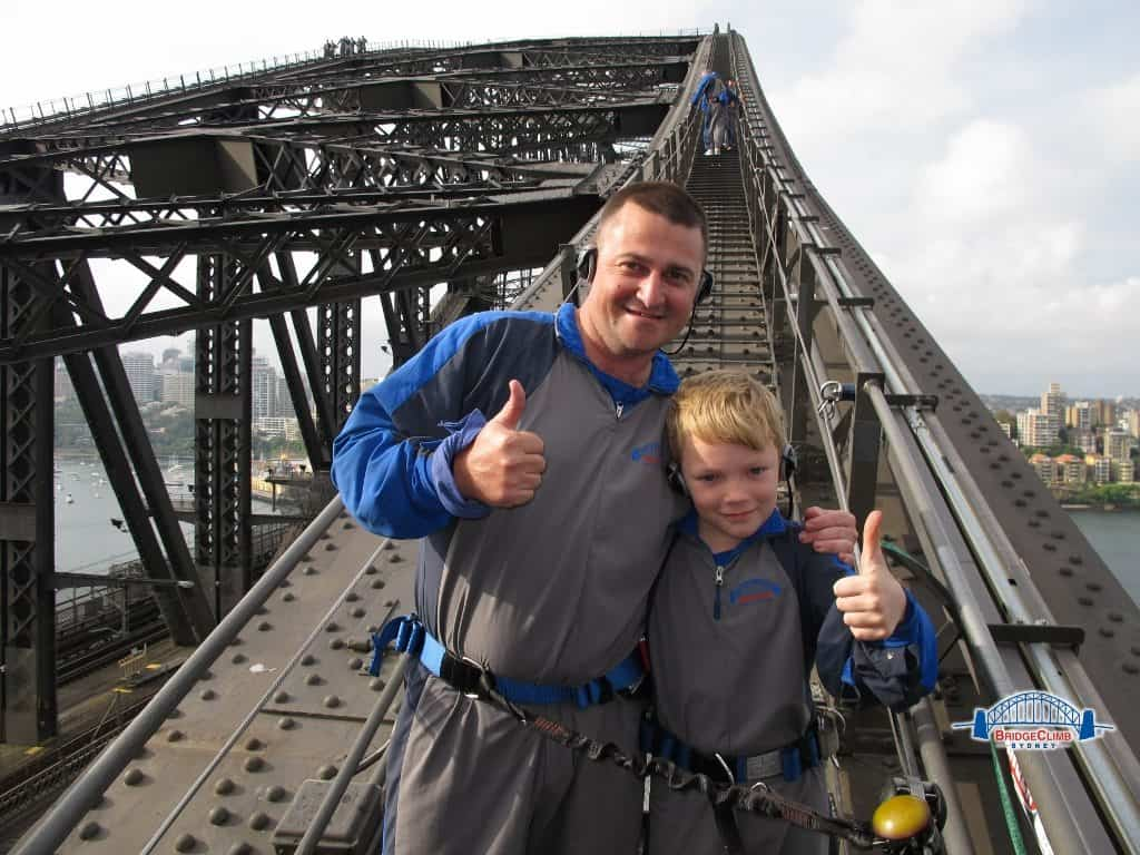 sydney bridge climb family activities