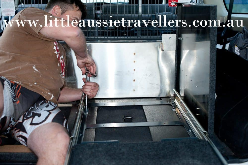 nissan patrol fridge slide install