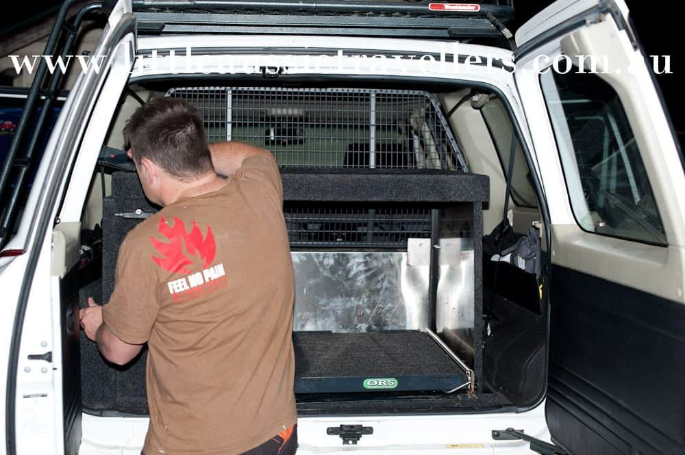 rear drawer installation nissan patrol travel australia