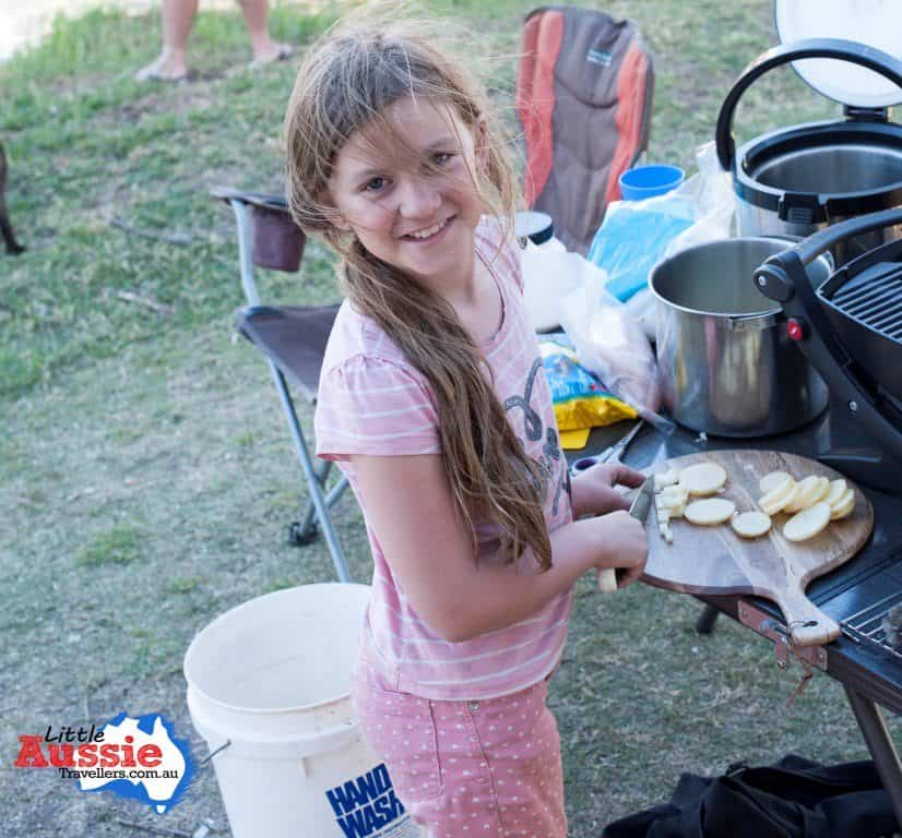 kids camp cooking