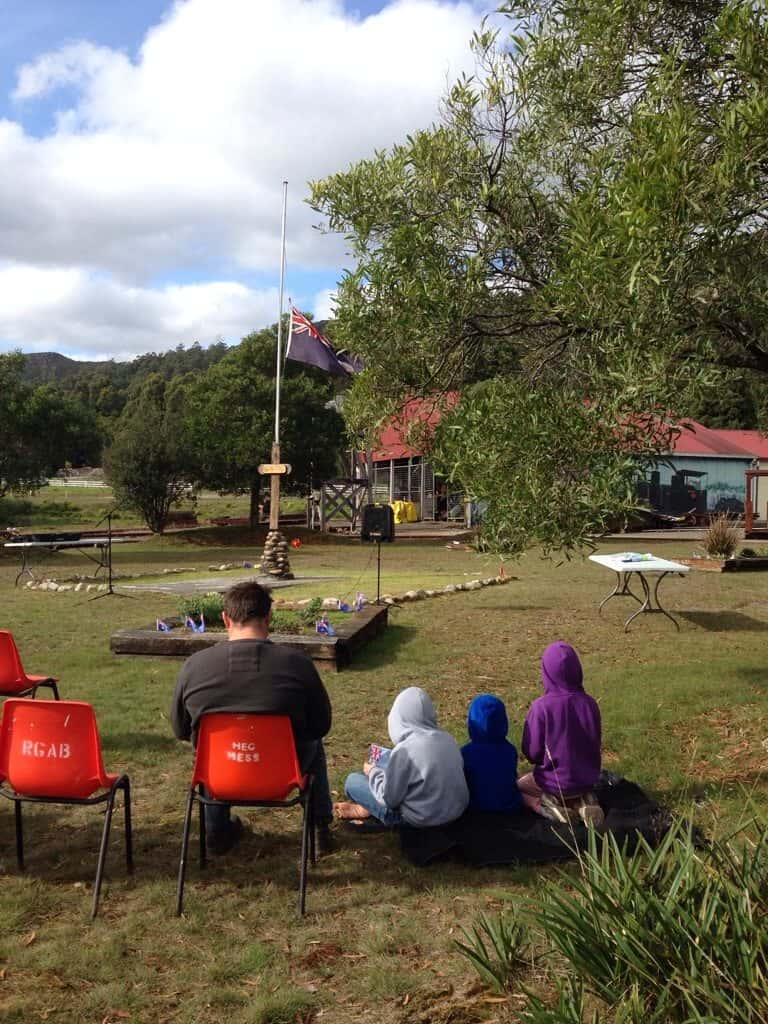 ANZAC Day Tullah Tasmania with kids
