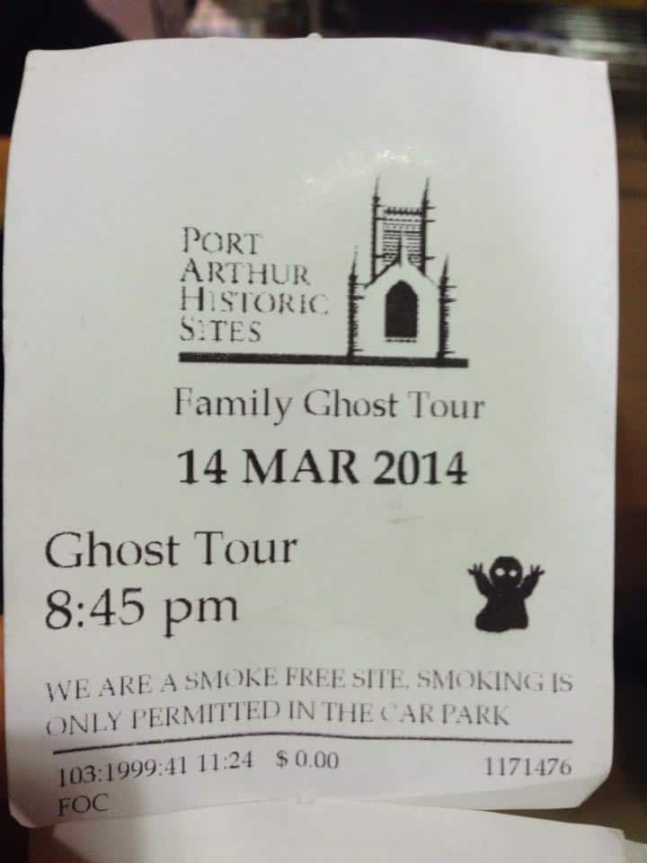Port Arthur Ghost Tour With kids