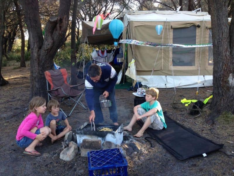 camping tasmania with kids
