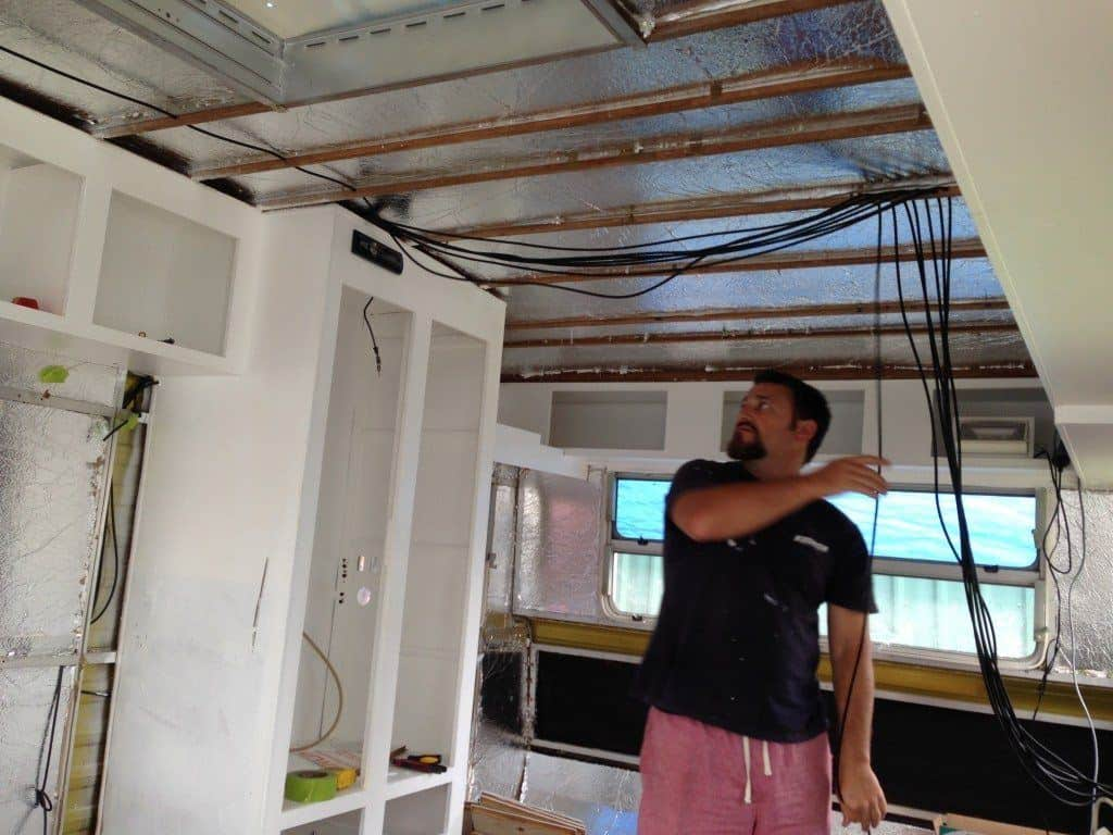 caravan renovation re-wiring