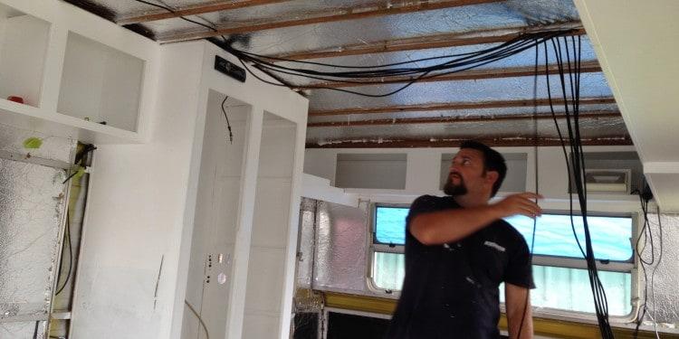 caravan renovation re-wiring