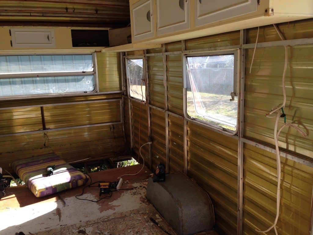 internal caravan strip out