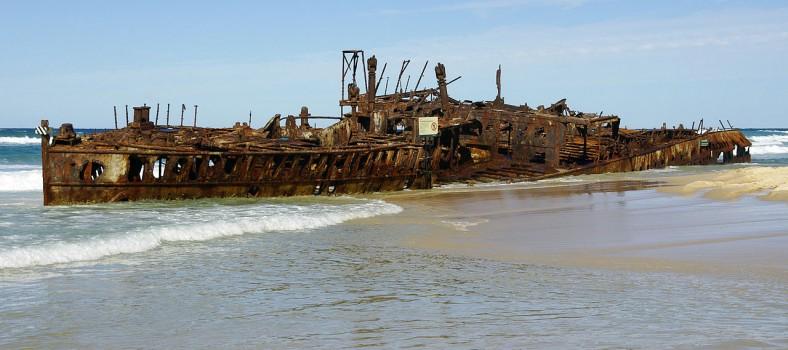 Fraser Island Shipwreck, Maheno